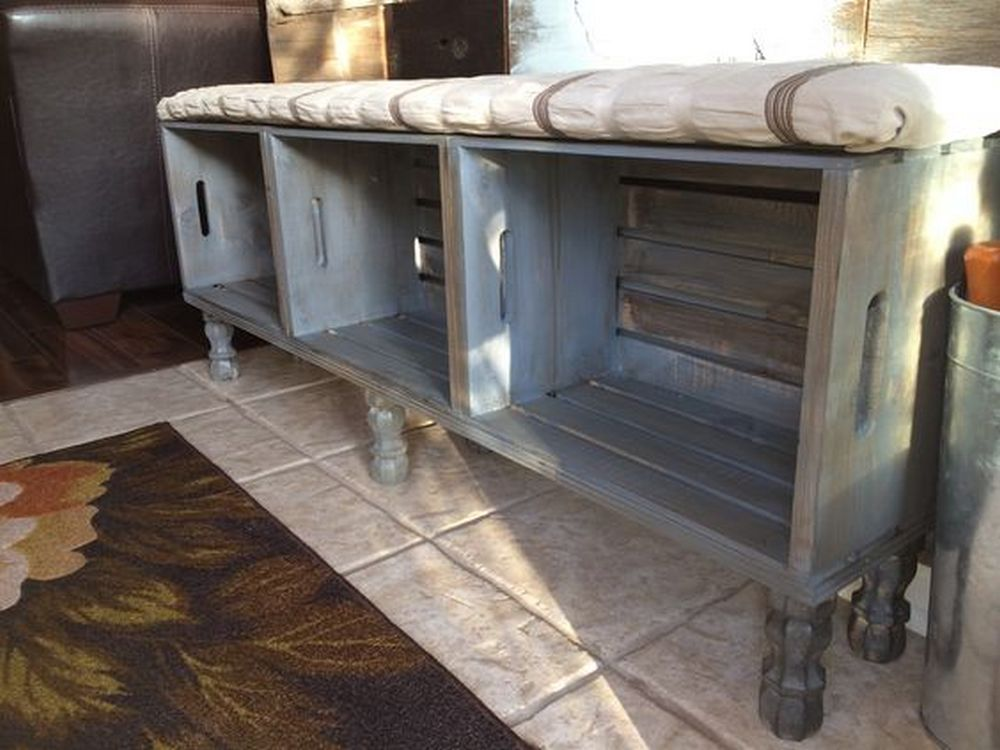 How To Build A Bench From Crates Diy Projects For Everyone