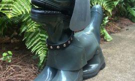 DIY Rubber Boot Dog