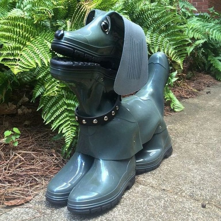 DIY Rubber Boot Dog