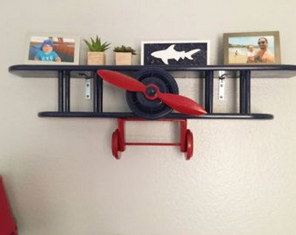 DIY Biplane Wall Shelf