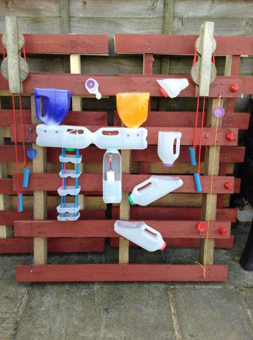 This DIY water wall is a fun activity you can make with your kids.