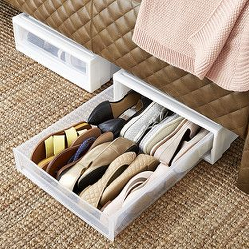 How To Build An Under Bed Shoe Organizer Diy Projects