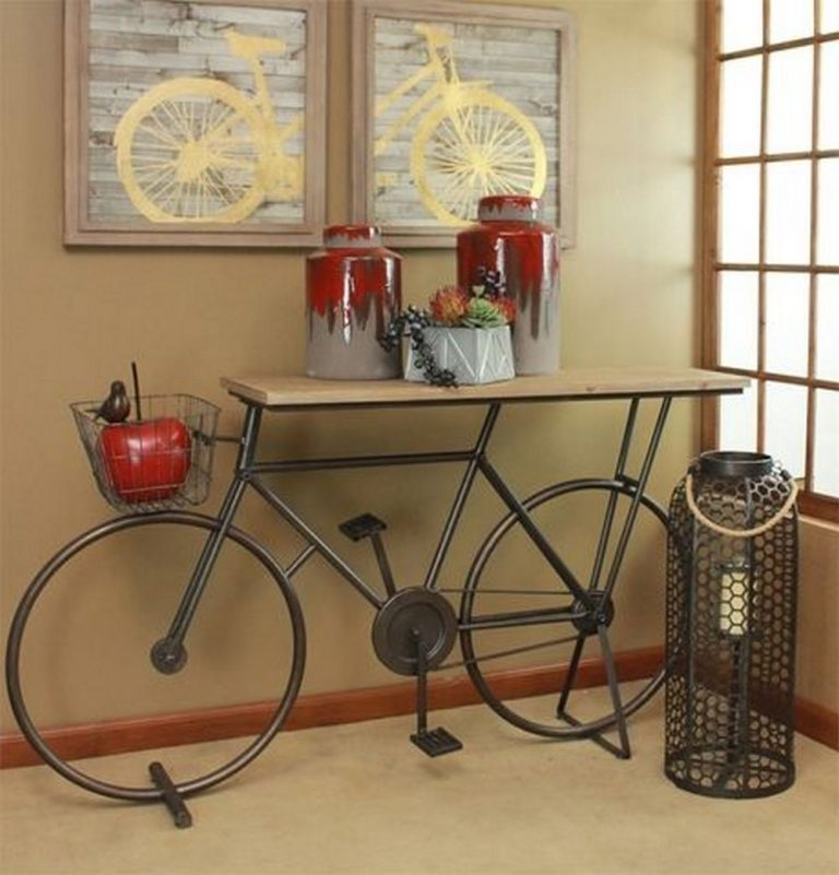 DIY Bike Entry Table