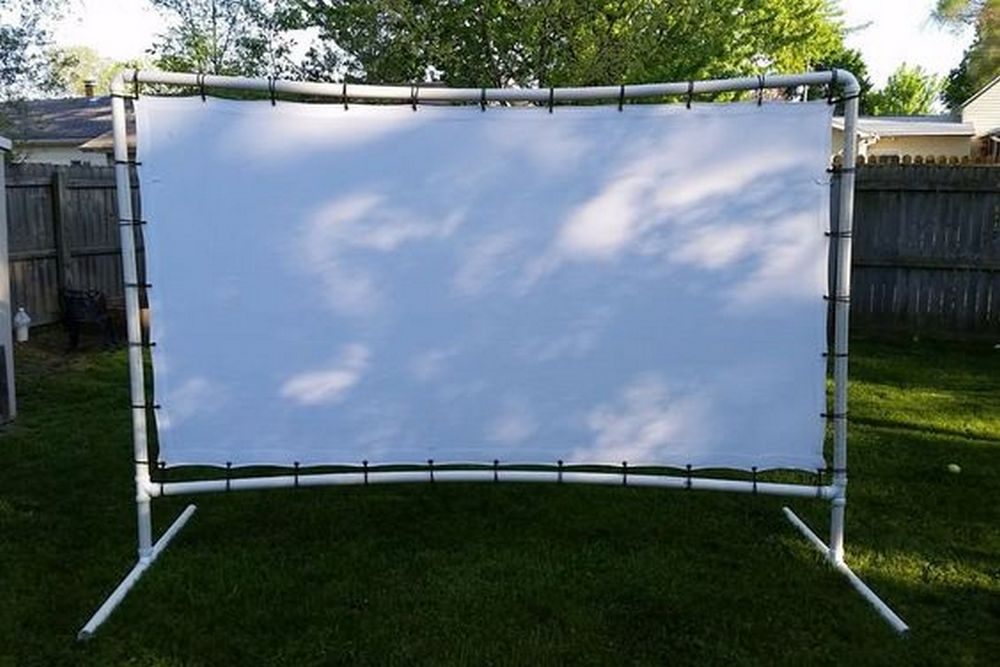 Transform your backyard into an open-air cinema with this outdoor movie screen.