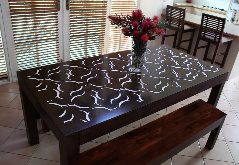 Make a statement with a custom furniture piece using a laser cut panel!
