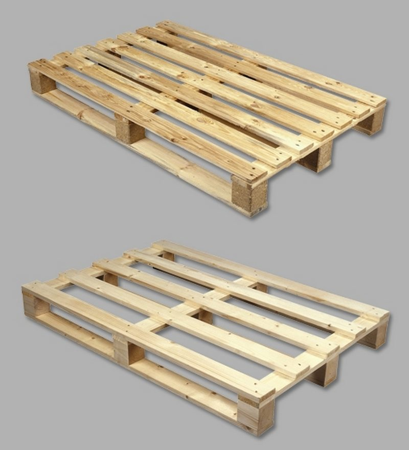 Domestic grade, single use pallets